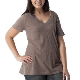 Women's plus-size mossimo® black: brown heather short-sleeve basic tee