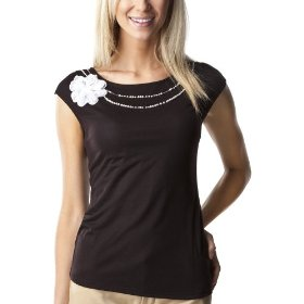 Merona® collection women's delphine knit top - black