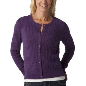 Merona® women's cable cardigan sweater - wood violet