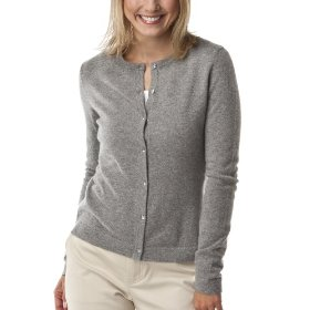 Merona® women's cashmere cardigan sweater - heather grey
