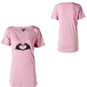 Roxy shadow heart t-shirt - short-sleeve - women's