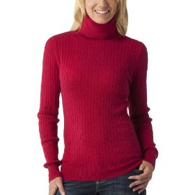 Merona® women's cable turtleneck sweater - cayenne