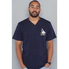Lrg the heritage v-neck tee in navy,t-shirts for men