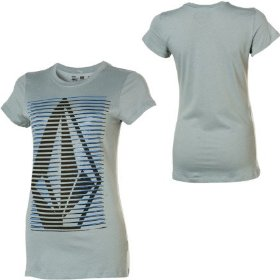 Volcom clean stripe sheer t-shirt - short-sleeve - women's