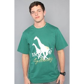 Lrg the heritage tee in forest green,t-shirts for men