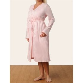 Motherhood maternity: long sleeve v-neck empire waist nursing nightgown and robe