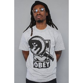 Obey the magnified tee in heather gray,t-shirts for men