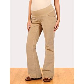 Motherhood maternity: under belly corduroy 5 pocket boot cut maternity pants