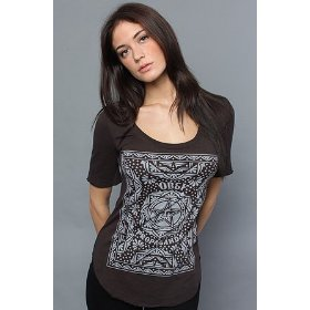 Obey the quilt dance tee in jet,t-shirts for women