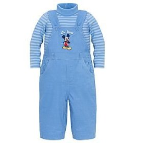 Disney oh boy mickey mouse overall set -- 2-pc.