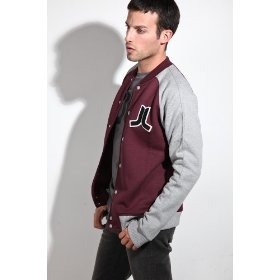 Wesc the balker jacket in red port,jackets for men