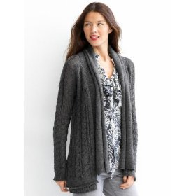 Banana republic drop cable open cardigan