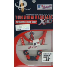 Phiten mlb x30 baseball titanium magnetic necklace