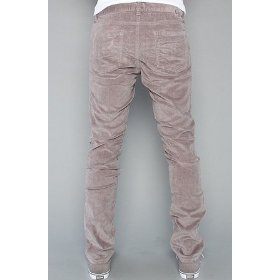Rvca the spanky cord pant in smoke,pants for men