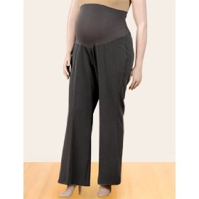 Motherhood maternity: plus size mid belly bi-stretch suiting maternity pants