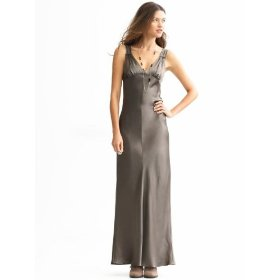 Banana republic silk long slip dress