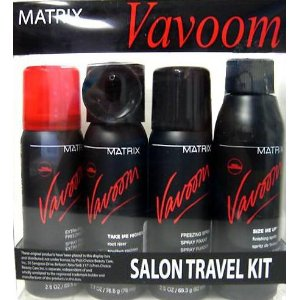 Vavoom travel kit -2.5 freezing spry extra, 2.7 mousse, 2.5 freezing spray, 4.2 sprits size one-up h