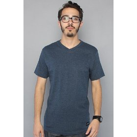 Nixon the tee vee marle in navy,t-shirts for men