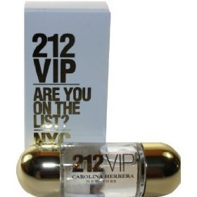 212 VIP - Are you on the List by Carolina Herrera for WOMEN EDP .17 oz (5 ml) mini : (note* minis ap