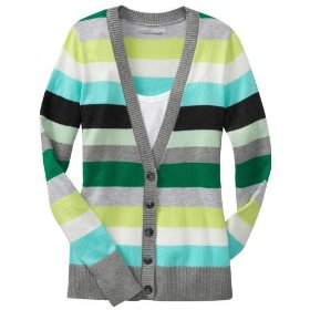 Old navy womens striped v-neck cardigans
