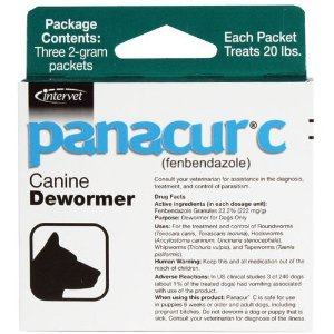 Panacur C Canine Dewormer 3x2gm packet