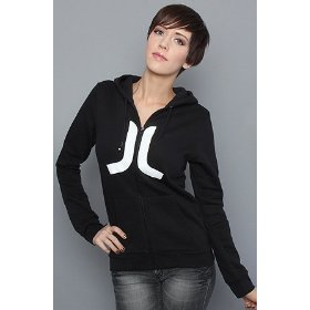 Wesc the icon zip hoody in black hood ,sweatshirts for women
