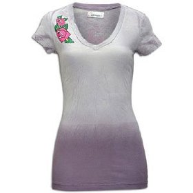 Ed hardy pretty bird s/s v-neck tunic - women's