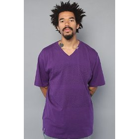Lrg core collection the grass roots two v-neck tee in purple,t-shirts for men