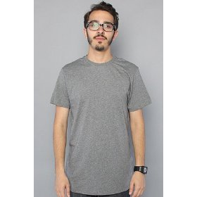 Lifetime collective the blank tee in smoked pearl melange,basic t-shirts for men
