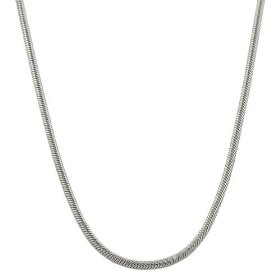 Gorgeous solid platinum 950 1mm round snake chain 18 inch