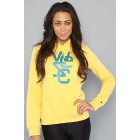 Wesc the overlay pullover hoody in royal yellow hood ,sweatshirts for women