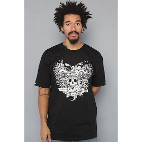 Crooks and castles the dying to live tee in black,t-shirts for men