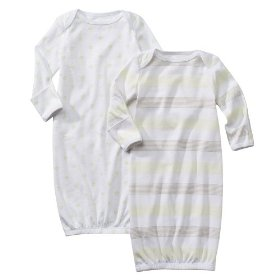 Circo® baby gown 2pk - neutral/ 0-3m
