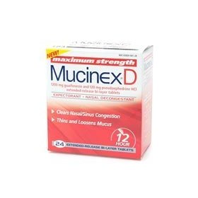 Mucinex d expectorant and nasal decongestant 1200 mg tablets
