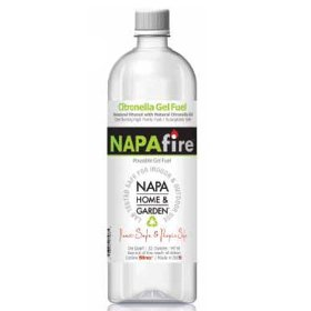 Napa firelite napafire gel fuel with citronella, 32 ounces