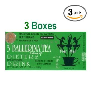 3 ballerina tea extra strength dieters' drink