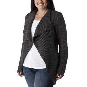 Womens' plus-size merona® charcoal heather long-sleeve cardigan sweater