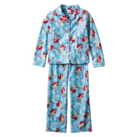 Girls' sleepwear disney® the little mermaid blue coat pajama set