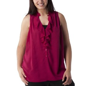 Women's plus-size mossimo® berry sleeveless v-neck fashion top