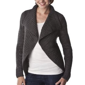 Merona® women's waterfall cardigan sweater - charcoal heather