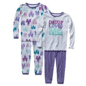 Infant toddler girls' sleepwear just one you made by carter's® purple daddy's princ