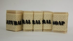 Natural Soap From Carley's Clear & Smooth 5 BIG Bars