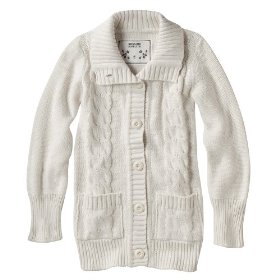Girls' mossimo supply co. cream long-sleeve chunky cardigan sweater