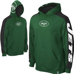 Reebok new york jets boys (4-7) powerhouse hooded fleece