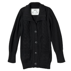 Girls' mossimo supply co. black long-sleeve chunky cardigan sweater