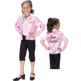 Girls pink lady halloween costume