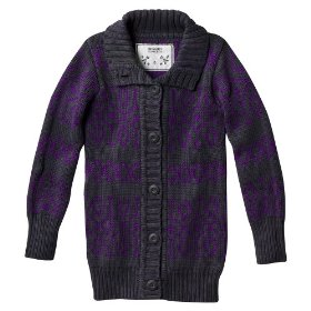 Girls' mossimo supply co. gray long-sleeve chunky cardigan sweater