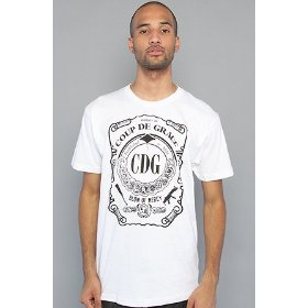 Coup de grace the scroll tee in white,t-shirts for men