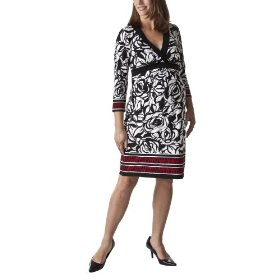 Liz lange® for target® maternity v-neck pleated empire dress -ebony/red/white
