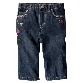 Newborn girls' genuine baby from oshkosh medium stonewash denim jean